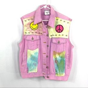 RP4LF Bill Blass Redone Patchwork Hand Dyed Vest